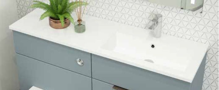 MORRE worktops with integral basin