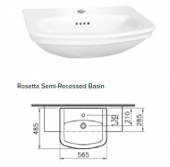 Rosetta Semi-Recessed Basin