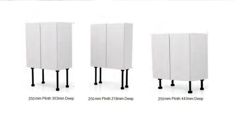 UNITS for 150 or 250mm plinth
