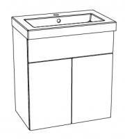 Editions Basin Unit with Sit On Basin