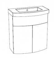 Editions Slimline Curved Basin Unit