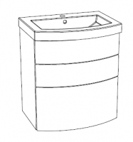 Editions Curved Basin Unit (with drawers)