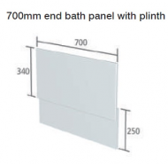 CAPELLA WHITE BATH END PANEL