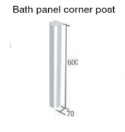 CAPELLA WHITE BATH PANEL CORNER POST