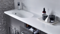 City Solid Surface Basin & Integrated Worktop