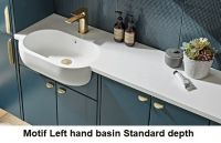Motif Solid Surface Basin & Integrated Worktop 1640mm