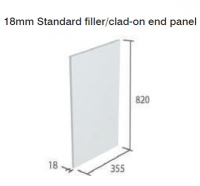 CAPELLA WHITE 18mm FILLER/CLAD-ON END PANEL