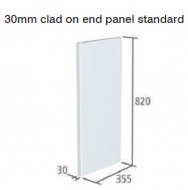 VETRO 820x355x30mm CLAD-ON END PANEL