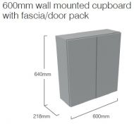 DOUBLE DOOR WALL UNIT 600mm