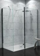 Wetroom Panels 8mm Glass inc 'flipper' silver (Saneux)