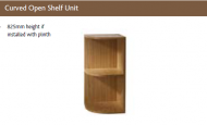 CURVED OPEN SHELF UNIT