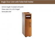 SINGLE DOOR UNIT with TOILET ROLL HOLDER