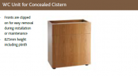 WC UNIT for CONCEALED CISTERN