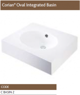 CORIAN® BASINS FOR CLADDED UNIT TOPS