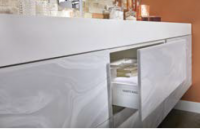 CORIAN® CONTINUOUS WORKTOP (Corian® Cladded Furniture only)