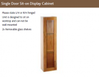 SINGLE DOOR SIT-ON DISPLAY CABINET