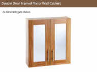 DOUBLE DOOR FRAMED MIRROR  WALL CABINET