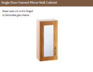 SINGLE DOOR  FRAMED MIRROR WALL CABINET