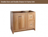 DOUBLE DOOR & DOUBLE DRAWER IN-FRAME UNIT 730mm high
