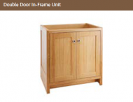 DOUBLE DOOR IN FRAME UNIT 825mm high