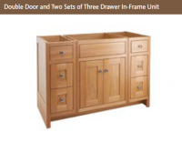 DOUBLE DOOR & TWO SETS OF THREE DRAWERS IN-FRAME 825mm high