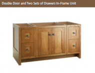 DOUBLE DOOR & TWO SETS OF DRAWERS IN-FRAME 730mm high