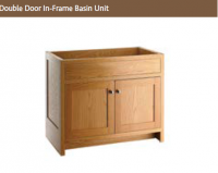 DOUBLE DOOR IN-FRAME BASIN UNIT 825mm high