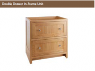 DOUBLE DRAWER IN FRAME UNIT 825mm high