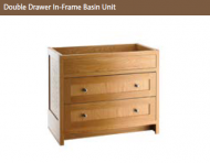 DOUBLE DRAWER IN-FRAME BASIN UNIT 825mm high