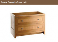 DOUBLE DRAWER IN-FRAME UNIT 730mm high