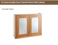 IN FRAME DOUBLE DOOR FRAMED MIRROR WALL CABINET