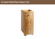IN-FRAME FITTED THREE DRAWER UNIT 825mm high