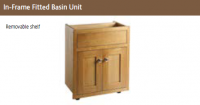 IN-FRAME FITTED BASIN  UNIT 825mm high