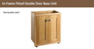 IN-FRAME FITTED DOUBLE DOOR BASE UNIT 825mm high