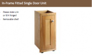 IN-FRAME FITTED SINGLE DOOR  UNIT 825mm high