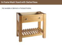 IN-FRAME WASH STAND with SLATTED BASE UNIT 730mm high