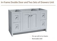 IN-FRAME DOUBLE DOOR & TWO SETS OF DRAWER 730mm high Vanity Hall