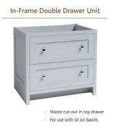 IN-FRAME DOUBLE DRAWER UNIT For sit-on basins 730mm high Vanity Hall