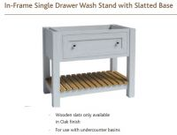 IN-FRAME WASH STAND for Undermount basin with SLATTED BASE UNIT 825mm high