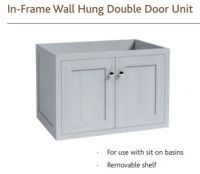 IN-FRAME WALL HUNG DOUBLE DOOR WASH BASIN UNIT 554mm high VanityHall