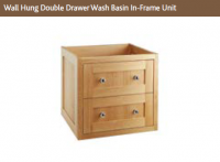 WALL HUNG DOUBLE DRAWER WASH BASIN IN-FRAME UNIT 554mm high