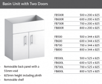 BASIN UNIT with TWO DOORS