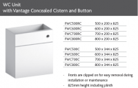 WC UNIT inc CONCEALED CISTERN and BUTTON