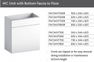WC UNIT with BOTTOM FASCIA TO FLOOR for CONCEALED CISTERN
