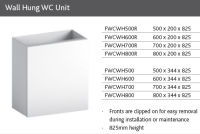 WC UNIT for WALL HUNG PAN