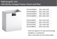 WC UNIT FOR WALL HUNG PAN inc CONCEALED CISTERN and FLUSH PLATE
