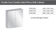 DOUBLE DOOR DOUBLE SIDED MIRROR WALL CABINET