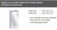 SLIM SINGLE DOOR MIRROR WALL UNIT WITH LIGHT