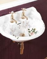 Victorian Decorated Wall Basin