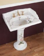 Victorian Decorated Basin & Pedestal